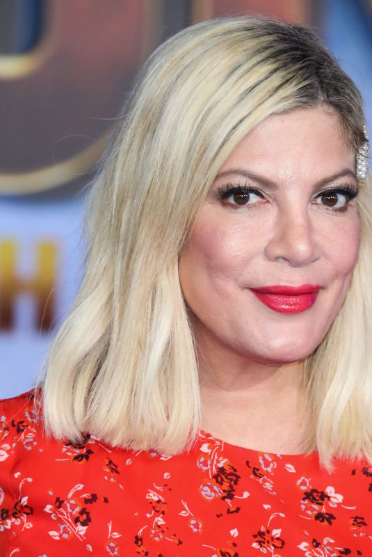 Tori Spelling Arrives at the JUMANJI THE NEXT LEVEL Los Angeles Premiere held at the TCL Chinese Theatre in Hollywood