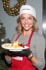 Tricia Helfer At Christmas Celebration On Skid Row at the Los Angeles Mission