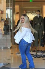 Trisha Pastas Goes Christmas shopping in Beverly Hills