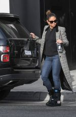 Vanessa Lachey Wears a brace on her foot holiday shopping on Rodeo Drive