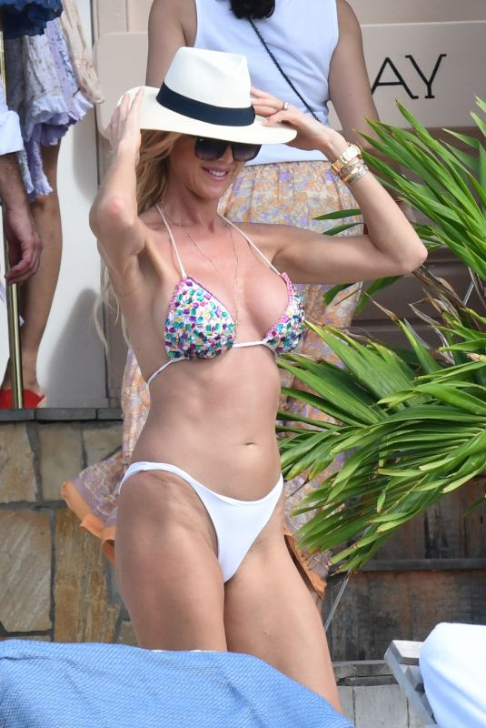 Victoria Silvstedt In bikini lounging in St. Barts