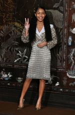Yara Shahidi Attends the photocall of the Chanel Metiers d