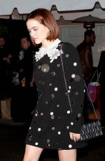 Zoey Deutch Leaving a party in Brentwood