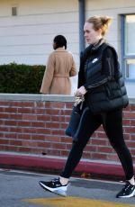 Adele Looks slimmer than ever while leaving a library in Los Angeles