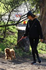 Alessandra Ambrosio Hiking with her dog in Pacific Palisades