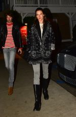 Alessandra Ambrosio Out for dinner in Santa Monica