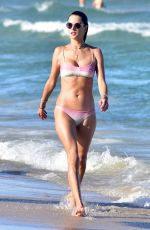 Alessandra Ambrosio Taking a walk in the ocean in Florianopolis, Brazil