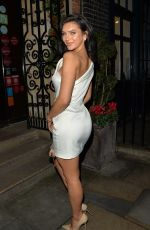 Alexandra Cane Arriving at Galvin La Chapelle restaurant for dinner with her mum