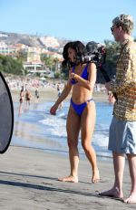 Alexandra Cane Films her fitness plan The Happy Body Plan in Tenerife