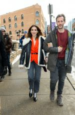 Alison Brie Out in park City