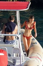 Alizee Thevenet Seen on her vacation in St. Barth