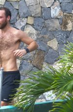 Alizee Thevenet Seen out for a jog in St. Barth, France