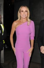 Amanda Holden Leaves the London Palladium in London