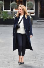 Amanda Holden Seen leaving the Global Studios after presenting the Heart Breakfast show in London