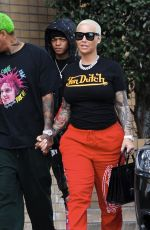 Amber Rose Seen heading to the Museum of Illusion in Hollywood
