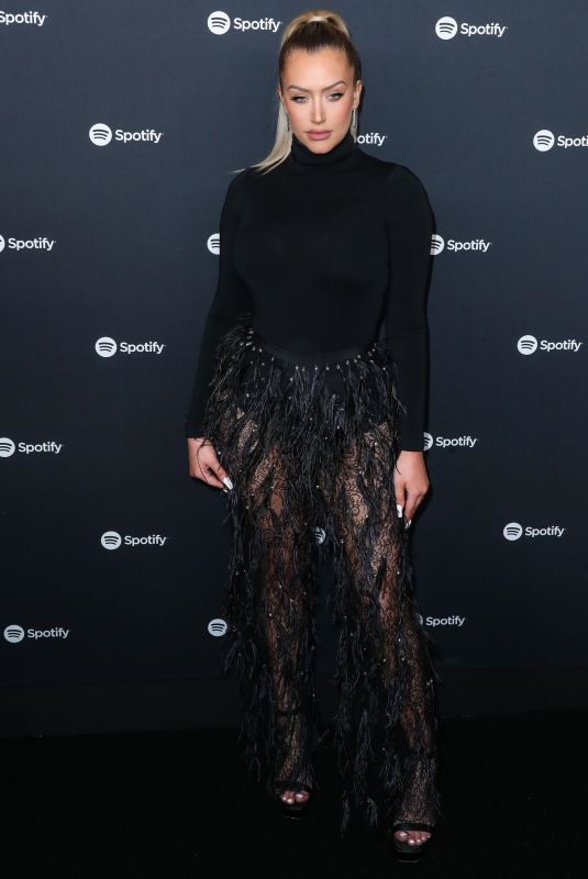 Anastasia Karanikolaou At Spotify Best New Artist 2020 Party at The Lot Studios in West Hollywood