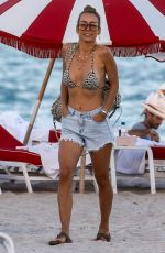 Annemarie Carpendale Relaxing on the beach in Miami Beach