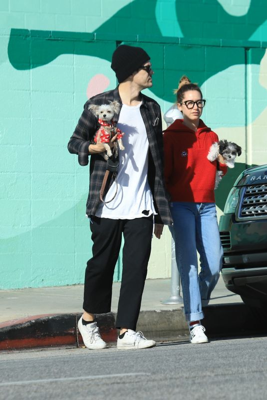 Ashley Tisdale Out in Los Angeles with her husband