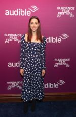 """Aubrey Plaza At """"Black Bear"""" Premiere party at the Audible Speakeasy in Park City"""