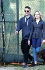 Ava Phillippe Seen walking her dog with her boyfriend in Brentwood