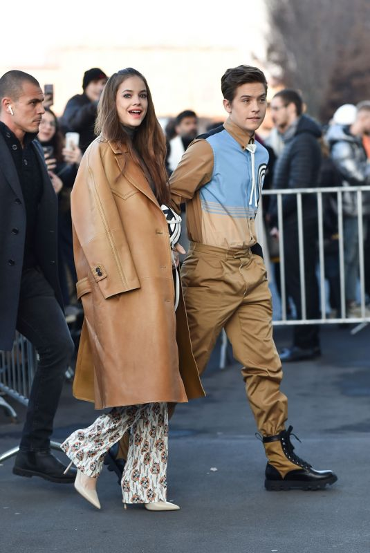 Barbara Palvin & Dylan Sprouse Are seen at the Prada fashion show