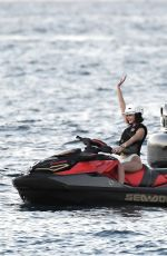 Bella Hadid Enjoys some jetski during her holiday in St.Barts