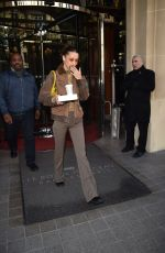 Bella Hadid Leaving the Royal Monceau hotel in Paris
