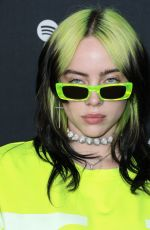 Billie Eilish At Spotify Best New Artist 2020 Party at The Lot Studios in West Hollywood