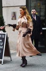Blake Lively Leaving the Crosby hotel in New York