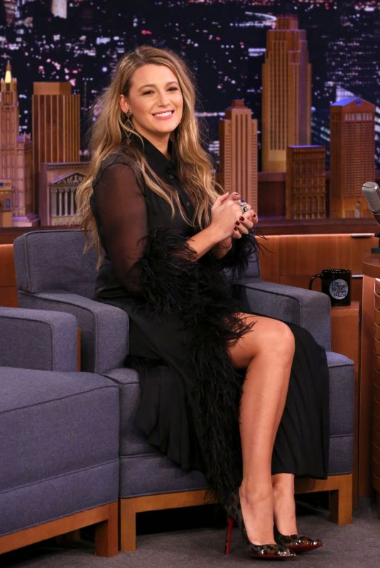 """Blake Lively On """"The Tonight Show Starring Jimmy Fallon"""" in NYC"""