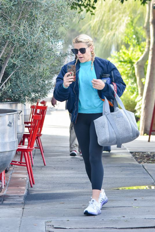 Busy Philipps Casual look as she walks to the gym in Los Angeles