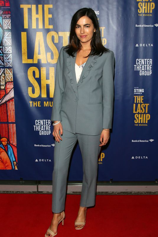 Camilla Belle At The Last Ship Opening Night Performance in Los Angeles