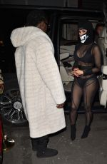 Cardi B & Offset Seen at Cesar restaurant in Paris, France