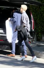 Charlize Theron Arrives for lunch at the Sunset Marquis Hotel in Los Angeles