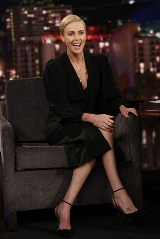 Charlize Theron At Jimmy Kimmel Live