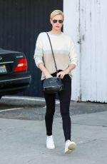 Charlize Theron Makes a trip to a furniture store in Los Angeles