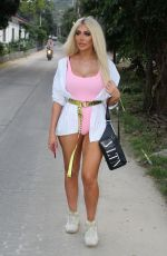 Chloe Ferry Gears up for the new year as she heads to the Full Moon Party whilst out on holiday in Thailand