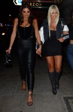 Chloe Ferry & Nicole Bass Seen leaving The Ex On The Beach Screening at The Curzon Mayfair, London