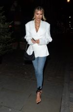 Chloe Sims Leaving The Chiltern FIREHOUSE in London