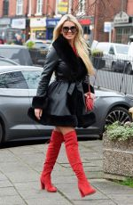 Christine McGuinness Out and about in Cheshire