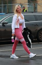 Christine McGuinness Seen leaving a gym in Alderley Edge, Cheshire