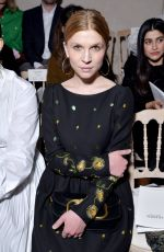 Clemence Poesy At Valentino show, Haute Couture Fashion Week, Paris, France