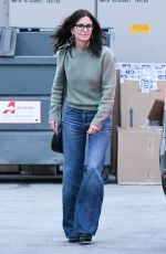Courteney Cox Enjoys some retail therapy at the Celine store in Los Angeles