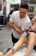 Courtney Stodden Seen getting her very first tattoo of a rose to kick off a New Year
