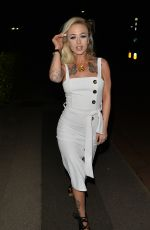 Crystal Foster Arriving at Tape night club in London