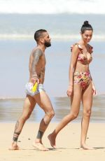 Daniel Alves and his wife Joana Sanz at Conceicao beach in Fernando de Noronha