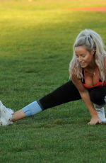 Danielle Mason Seen working out in Los Angeles
