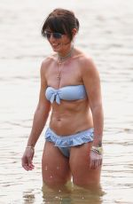 Davina McCall Enjoying an afternoon on the beach with her family in Australia