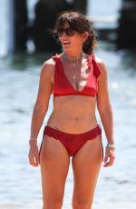 Davina McCall Pictured enjoying another sunny beach day in Sydney