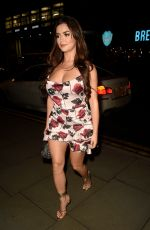 Demi Rose Puts on very busty display as she arrives at Peter Street Kitchen In Manchester